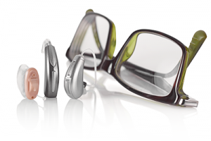 Hearing aids and glasses